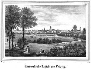 Nordwestliche Ansicht von Leipzig